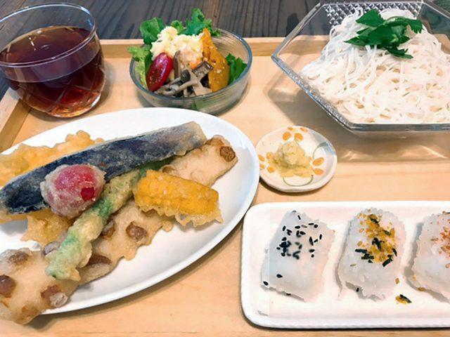 天ぷらそうめん定食